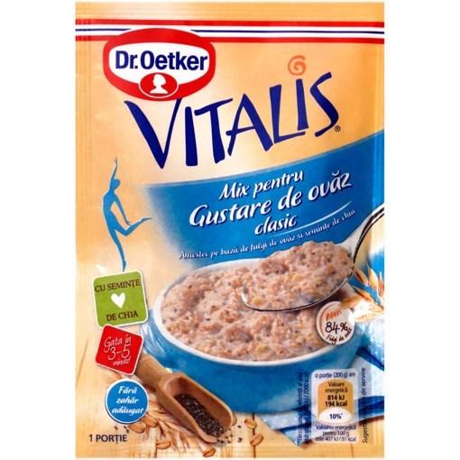 Imagine Dr Oetker Vitalis - Gustare de ovaz, clasic, 50 gr.