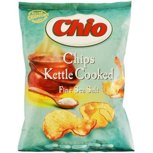 Imagine Chio Kettle Chips sare de mare, 80 gr.