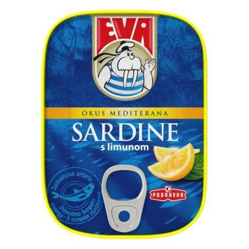 Imagine Eva Sardine in ulei vegetal si lamaie 115G