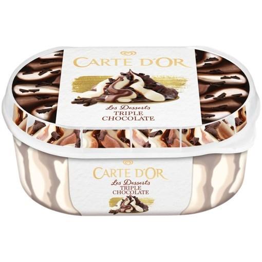 Imagine Inghetata Carte D'Or Triple Chocolate, 900ml