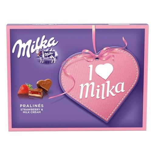 Imagine I love milka cu capsune 120g