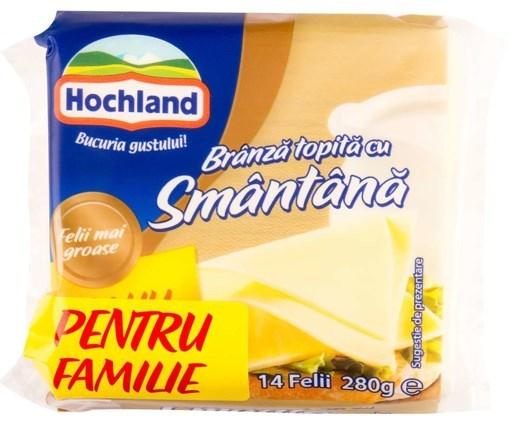 Imagine Hochland branza topita cu smantana, 280g, 14 felii