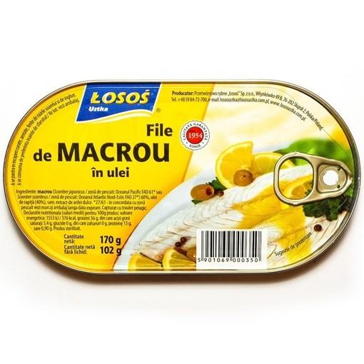 Imagine Losos Macrou file in ulei, 170 grame