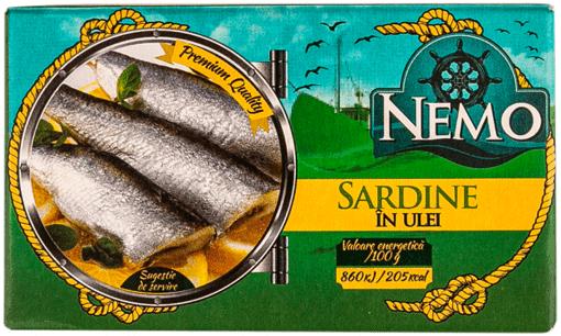 Imagine Nemo Sardine in ulei 125 G