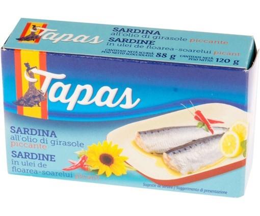 Imagine Tapas Sardinela in ulei picant 88g
