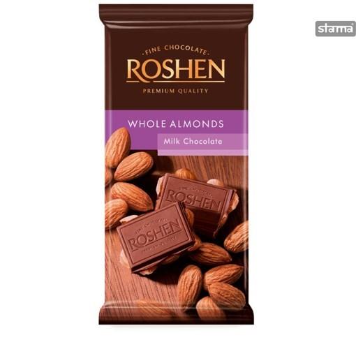 Imagine Chocolate Roshen Milk Almond 90g