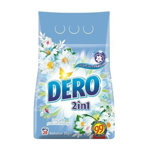 Imagine Detergent 2in1 Iris Alb Automat - 2kg - DERO