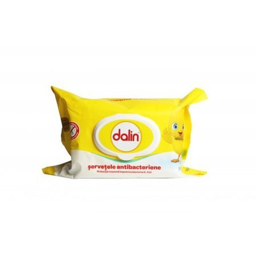 Imagine Dalin Servetele antibacteriene, umede, 64 buc.