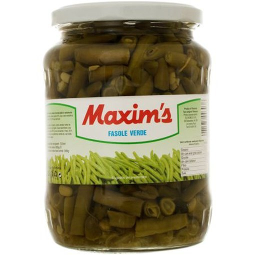 Imagine Fasole verde borcan 720gr Maxim`s