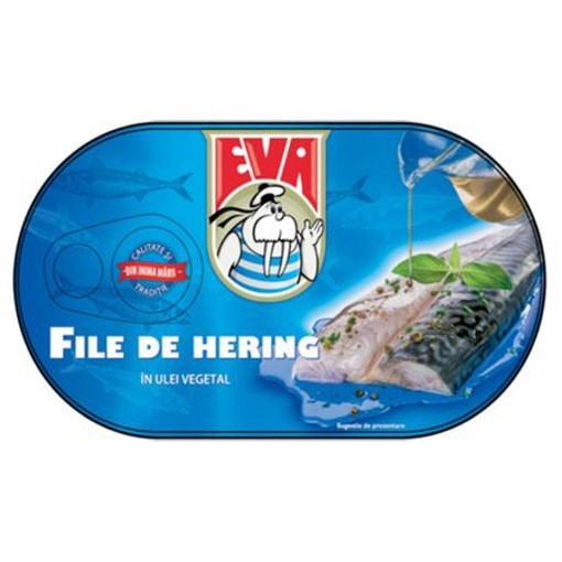 Imagine File de Hering in ulei vegetal Eva 170g