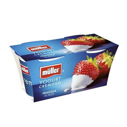 Imagine Muller Bipack Iaurt cu Bucati de Capsuni 2x125 grame