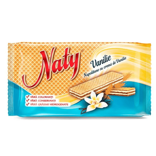 Imagine Naty Napolitane cu vanilie 160g