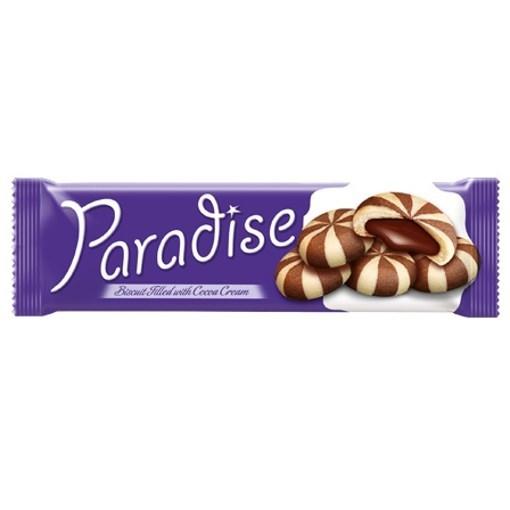 Imagine Paradise biscuiti bicolori cu crema de cacao 60 gr.