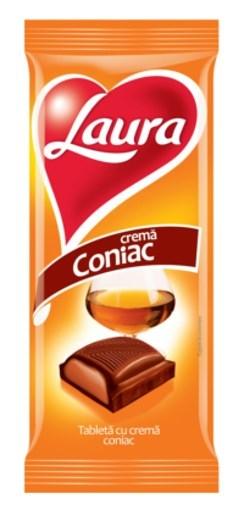Imagine Tableta Laura Lapte Coniac 95g