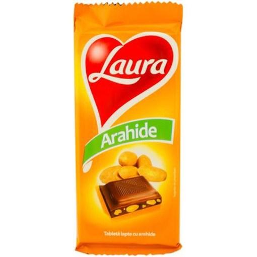 Imagine Tableta Laura Lapte Arahide 90 gr.