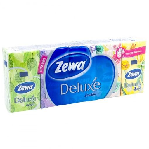 Imagine Batiste Nazale Deluxe Parfumate Zewa - 3 straturi/10 batiste