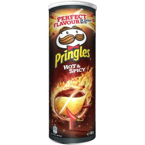 Imagine Pringles Hot & Spicy, 165 gr.