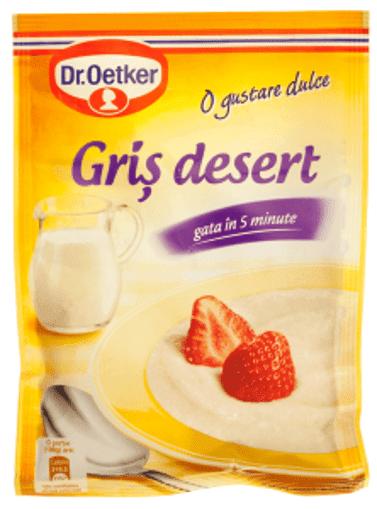 Imagine Pudding de gris cu sos de cirese