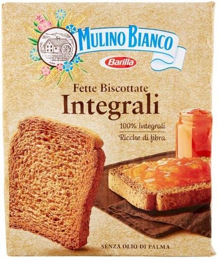 Imagine Barilla Mulino Bianco Fette Biscottate Integrale 315 grame