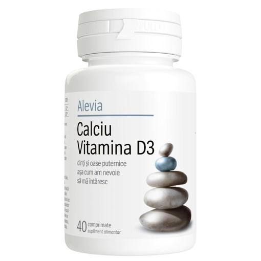 Imagine Calciu vitamina D3 Alevia, 40cp