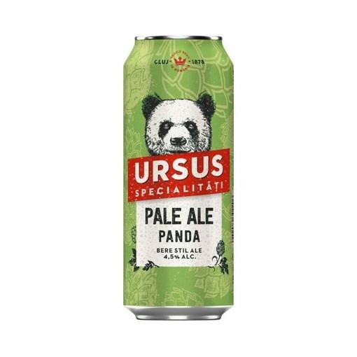 Imagine Bere Ursus Pale Ale Panda, doza 0.5L