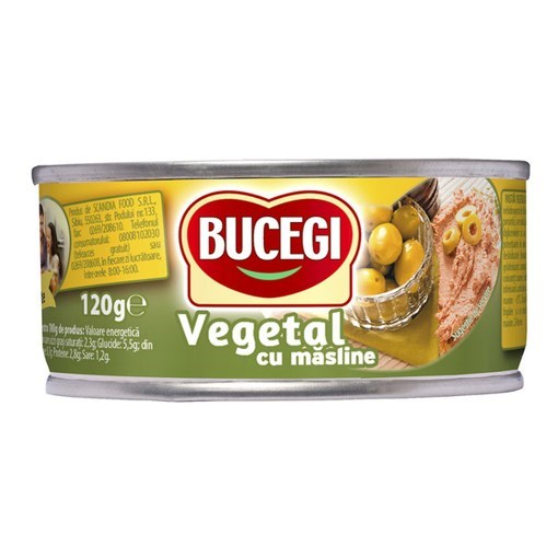 Imagine Bucegi pasta vegetala cu masline 120g