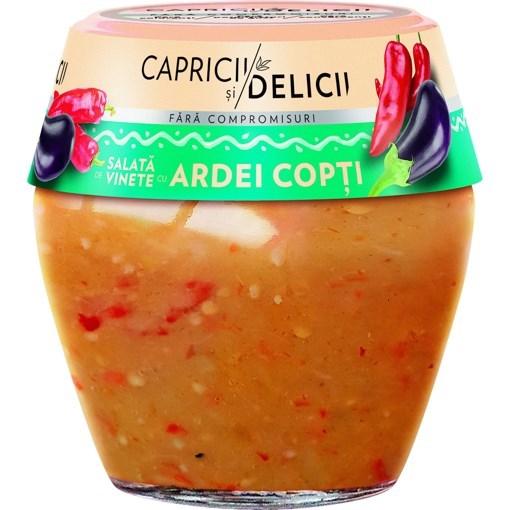 Imagine Capricii si Delicii salata de vinete cu ardei copti 290g