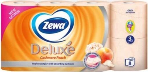 Imagine Hartie igienica Zewa Deluxe Piersica 8 role, 3 straturi