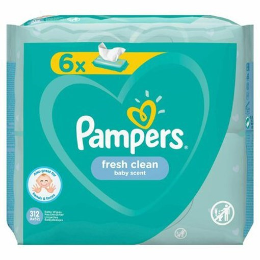 Imagine Pampers Serv Fresh Clean 6pk 52