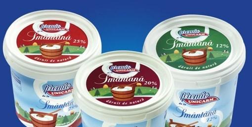 Imagine Smantana Unicarm, 350 gr., 12% grasime