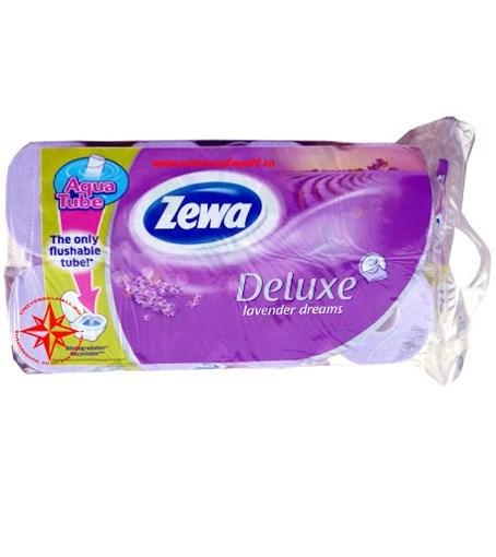 Imagine Hartie igienica Zewa Deluxe Lavander Dreams 8 role 3 straturi