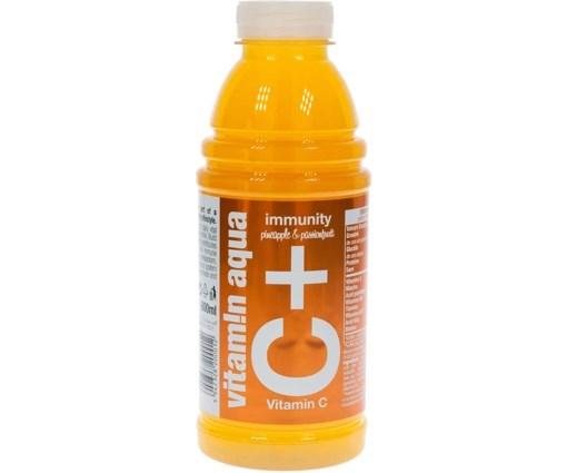 Imagine Apa cu vitamine Merlins C+ VITAMIN AQUA Ananas & Fructul Pasiuni 0.6l