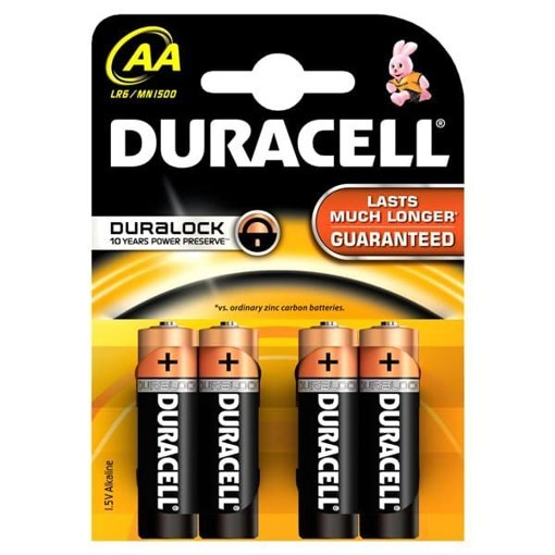 Imagine Baterie alcalina Duracell AA (4 bucati)