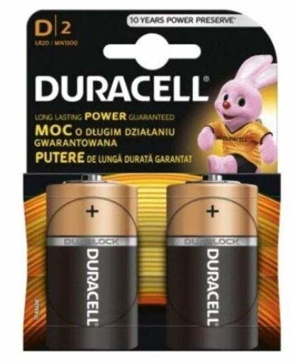 Imagine Baterie alcalina Duracell Basic D2