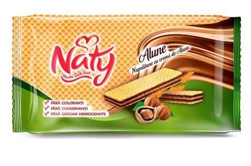 Imagine Napolitane cu alune Naty, 160 gr