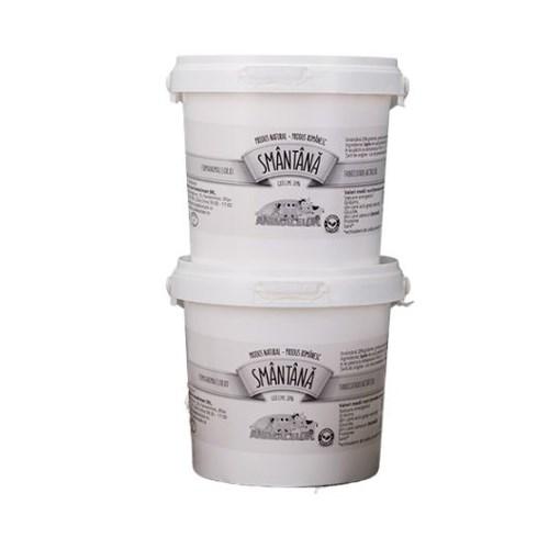 Imagine Smantana Fabricuta de lactate - Ferma Animalelor 25% grasime, 300g