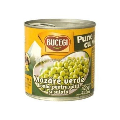 Imagine Bucegi Mazare verde boabe, pentru salata, 420 gr.
