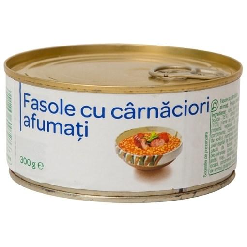 Imagine Fasole cu costita afumata Unicarm, 300 gr.