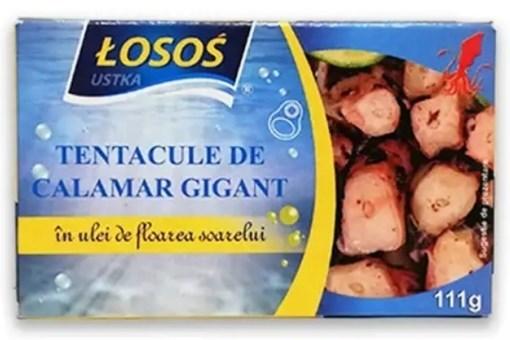 Imagine Losos Tentacule calamar Gigant in ulei 111 grame