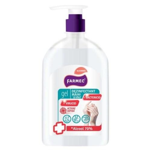 Imagine Gel dezinfectant maini Farmec, 500ml