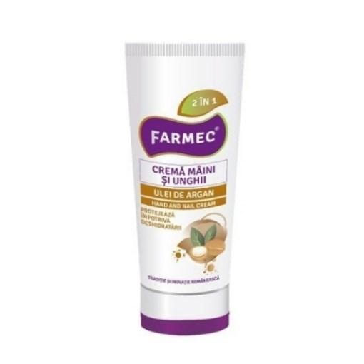 Imagine FARMEC -crema pentru maini si unghii-cu ulei de Argan, 100 ml