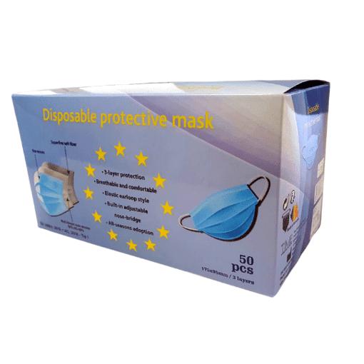 Imagine Masca faciala tip 1, 3 straturi, 3 pliuri (cutie 50 buc)
