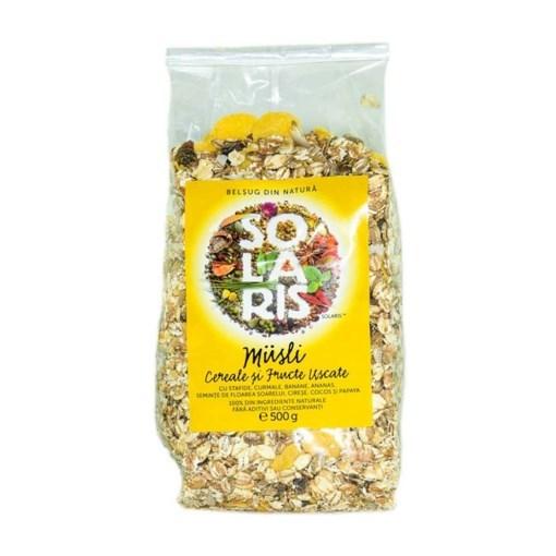 Imagine Musili Cereale si Fructe Uscate Solaris 500g