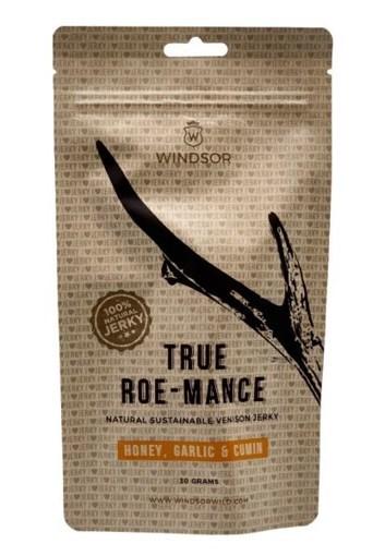Imagine Windsor Jerky carne uscata de caprioara cu miere, usturoi si chimion, 30g