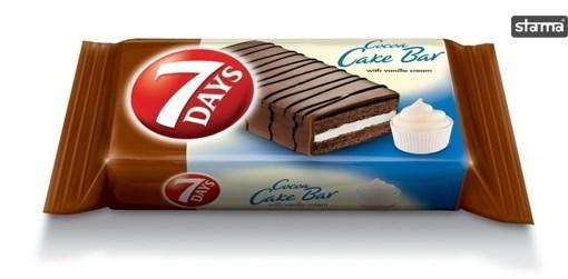 Cakebar Glazurat cu crema de Vanilie 7Days  32g