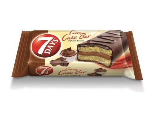 Cakebar glazurat cu crema Cacao 7Days 32g
