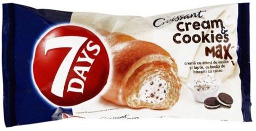 Imagine Croissant 7Days Cookies Cream Max cu Vanilie