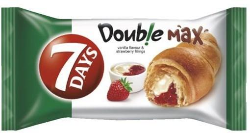 Imagine Croissant 7Days dublu cu vanilie si capsuni, 80g