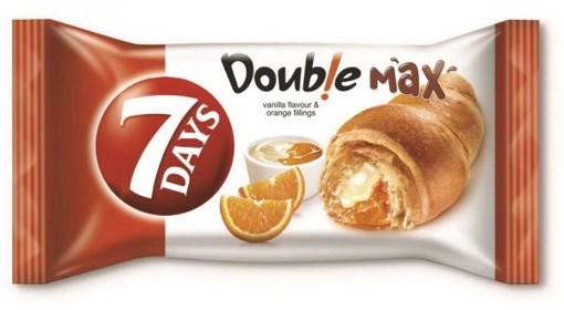 Imagine Croissant 7Days dublu cu vanilie si portocale, 80g