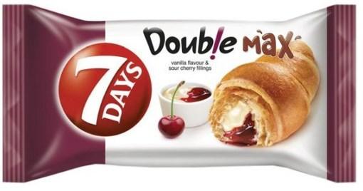 Imagine Croissant 7Days dublu cu vanilie si visine, 80g